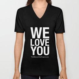 WE LOVE YOU (updated) Unisex V-Neck