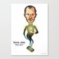 steve jobs Canvas Prints featuring Steve Jobs by Gilderic