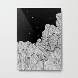 Rocks of the moon Metal Print