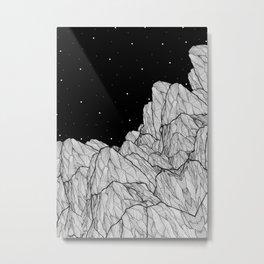 Rocks of the moon Metal Print