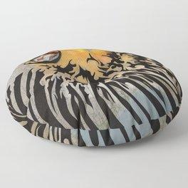 lion barcode Floor Pillow