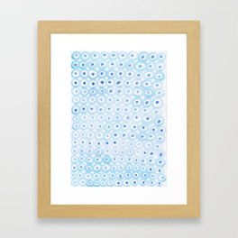 Circles Pattern Framed Art Print