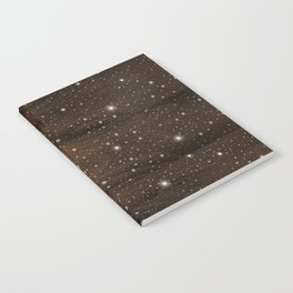Christmas lights on wooden background Notebook