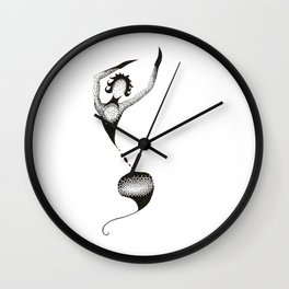 Dotted Dancer Eight Wall Clock