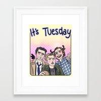 enerjax Framed Art Prints featuring It's Tuesday by enerjax