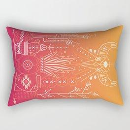 Santa Fe Garden – Orange Sunset Rectangular Pillow