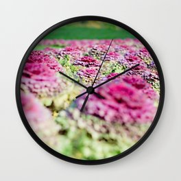 Purple Cabbage Wall Clock