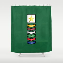 Clases Progresivas Shower Curtain
