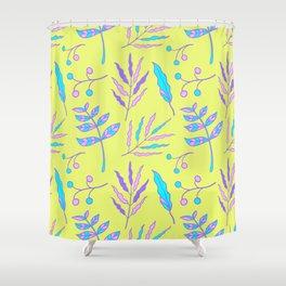 whimsical garden plants pattern Shower Curtain