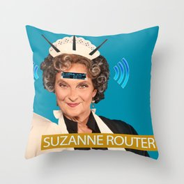 Suzanne Router Throw Pillow