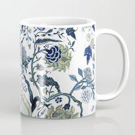 Blue vintage chinoiserie flora Coffee Mug