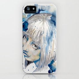 Nieves watercolor portrait by carographic iPhone Case
