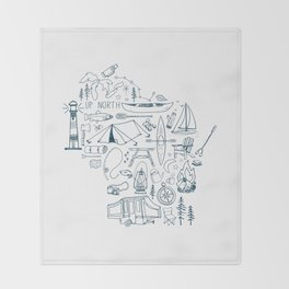 Wisconsin Up North Collage Throw Blanket