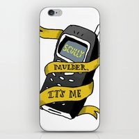 mulder iPhone & iPod Skins featuring Mulder, It's Me by Nina Johnson