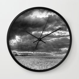 The Impending Storm Wall Clock