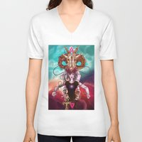 occult V-neck T-shirts featuring Occult allegory by Kami-katamari