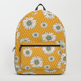 Daisies on Yellow Backpack