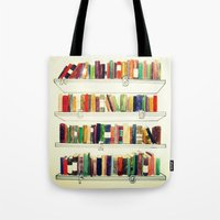 books Tote Bags featuring Books by Ela Caglar