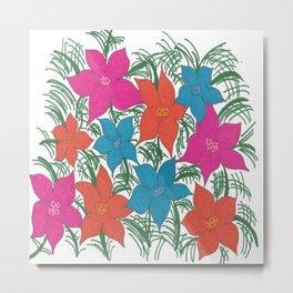Bright Bouquet Metal Print