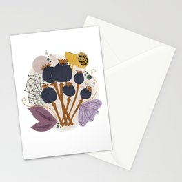 Fall Floral Bouquet Stationery Cards