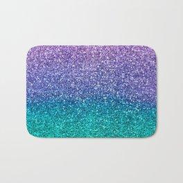 Lavender Purple & Teal Glitter Bath Mat