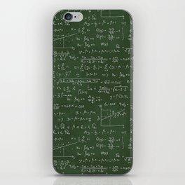Geek math or economic pattern iPhone Skin