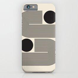 Abstraction_BLACK_LINE_DOT_POP_ART_Minimalism_004D iPhone Case