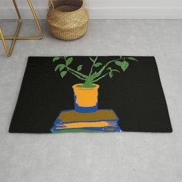 Plant & Books Rug