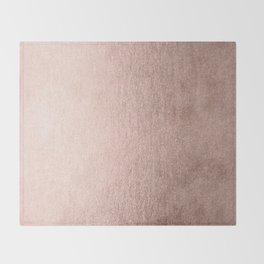 Moon Dust Rose Gold Throw Blanket