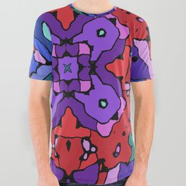 Colorful geometric abstract All Over Graphic Tee