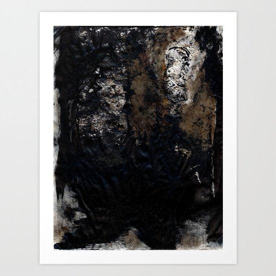 Steps in the dark Art Print