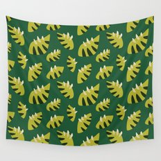 Pretty Clawed Green Leaf Pattern Wall Tapestry