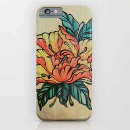 Wood Peony  iPhone Case