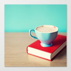Red book and coffee Canvas Print