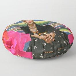 Frida Kahlo Folclore Floor Pillow