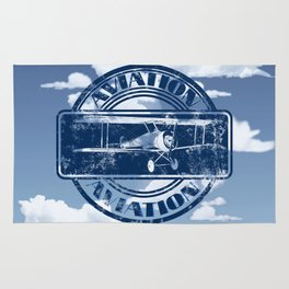 Retro Aviation Art Rug