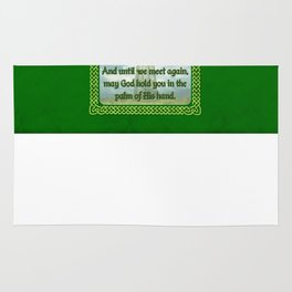 Green Irish Blessing Rug