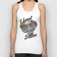 dallas Tank Tops featuring Dallas by Prints_by_Gabriel