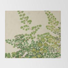Maidenhair Ferns Throw Blanket