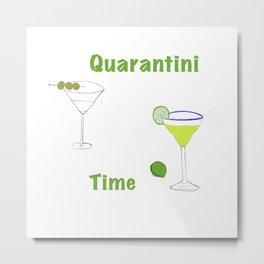 Quarantini Time Metal Print