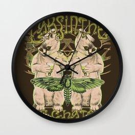Kitten's Absinthe Wall Clock