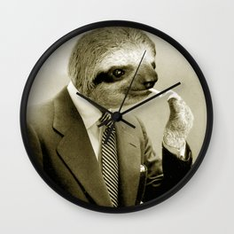 Gentleman Sloth 9# Wall Clock