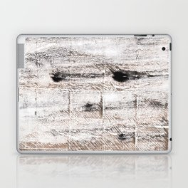Ghost white abstract watercolor Laptop & iPad Skin