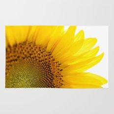 Sunflower Detail - Yellow Rug