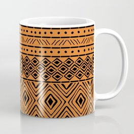 African Mud Cloth // Orange Coffee Mug