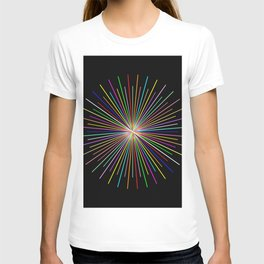 Strands Of Light 2 - Abstract, Spectral Pattern T-shirt