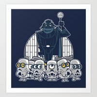 minions Art Prints featuring Stormtrooper Minions by Hugo Martin