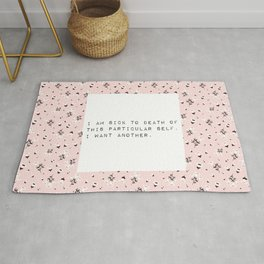 I am sick of this particular self - V. Woolf Collection Rug