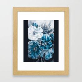 BLUE FLOWERS PAINTING - 180818/1 Framed Art Print