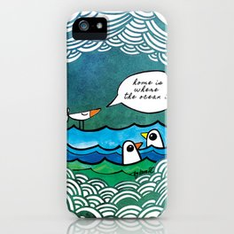 home is where the ocean is iPhone Case